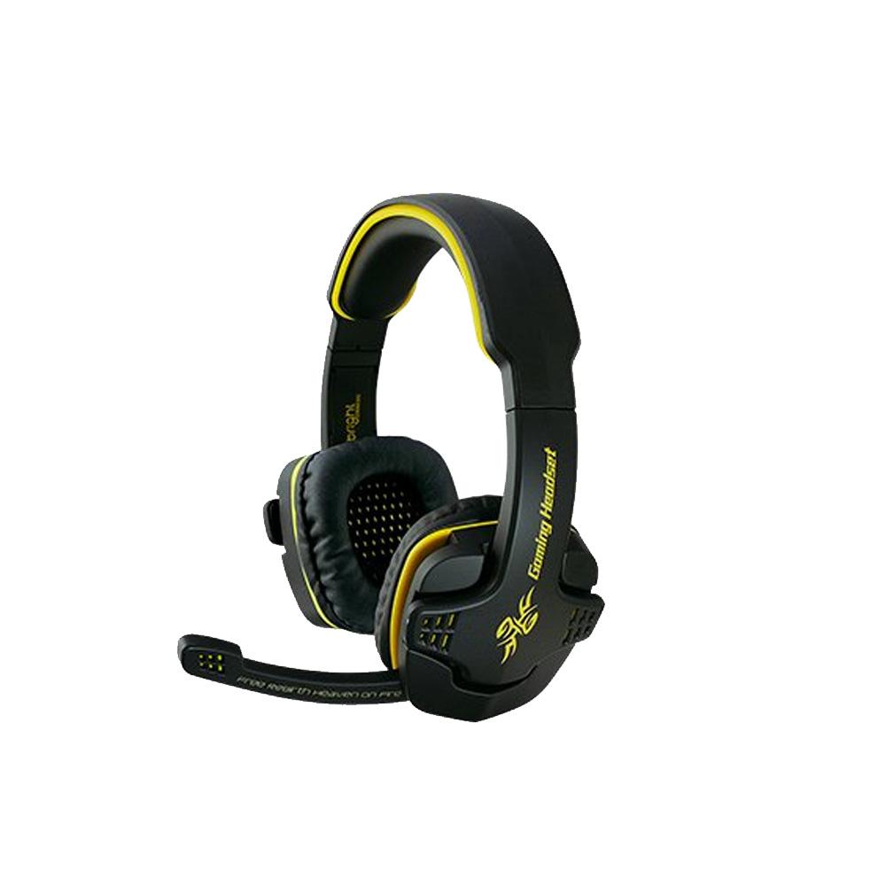 Fone de Ouvido Headset Gamer 7.1 conexao 1.8 metros Preto e Amarelo Bright -0354