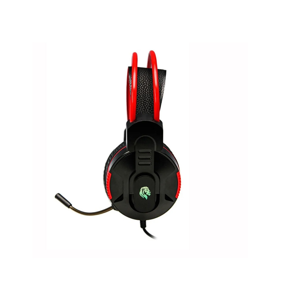 Fone De Ouvido Headset Gamer Hayom C/ Leds Plug P2 + Usb Cabo 2 Metros HF2207 Preto e Vermelho  - Districomp Distribuidora