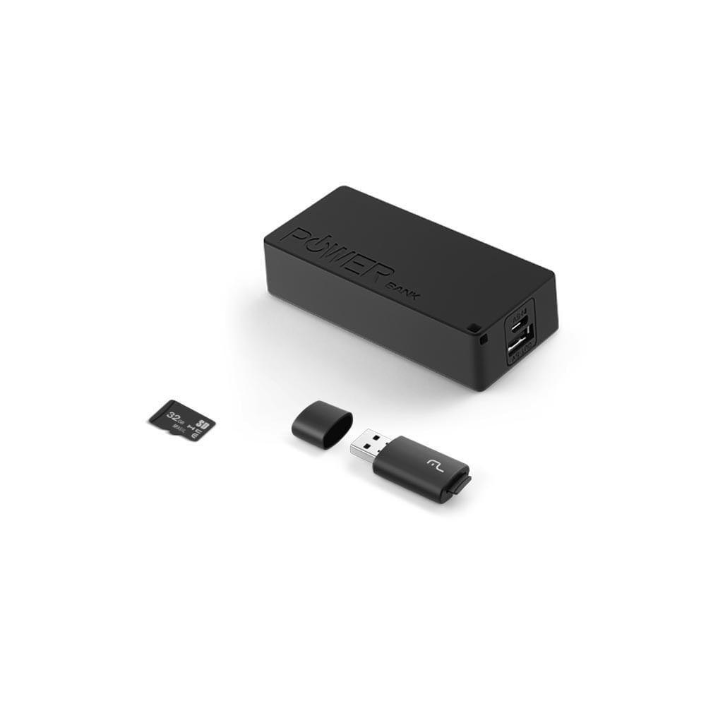 Fone Headphone Bluetooth SD Aux Fm Power Bank 4000 Mah+Leitor Usb +Micro Sd32Gb C10 - MC250  - Districomp Distribuidora