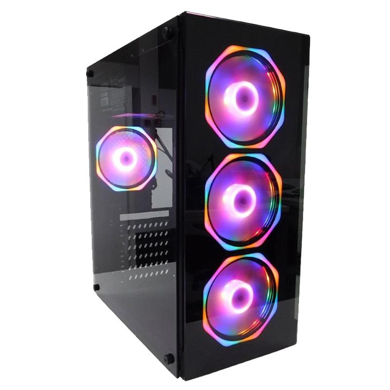 Gabinete Gamer Em Vidro Temperado Usb 3.0 C/ 4 Fans Rgb Incluso 2x Hds 3.5 2x Ssds 2.5 - GB1701 - Hayom  - Districomp Distribuidora