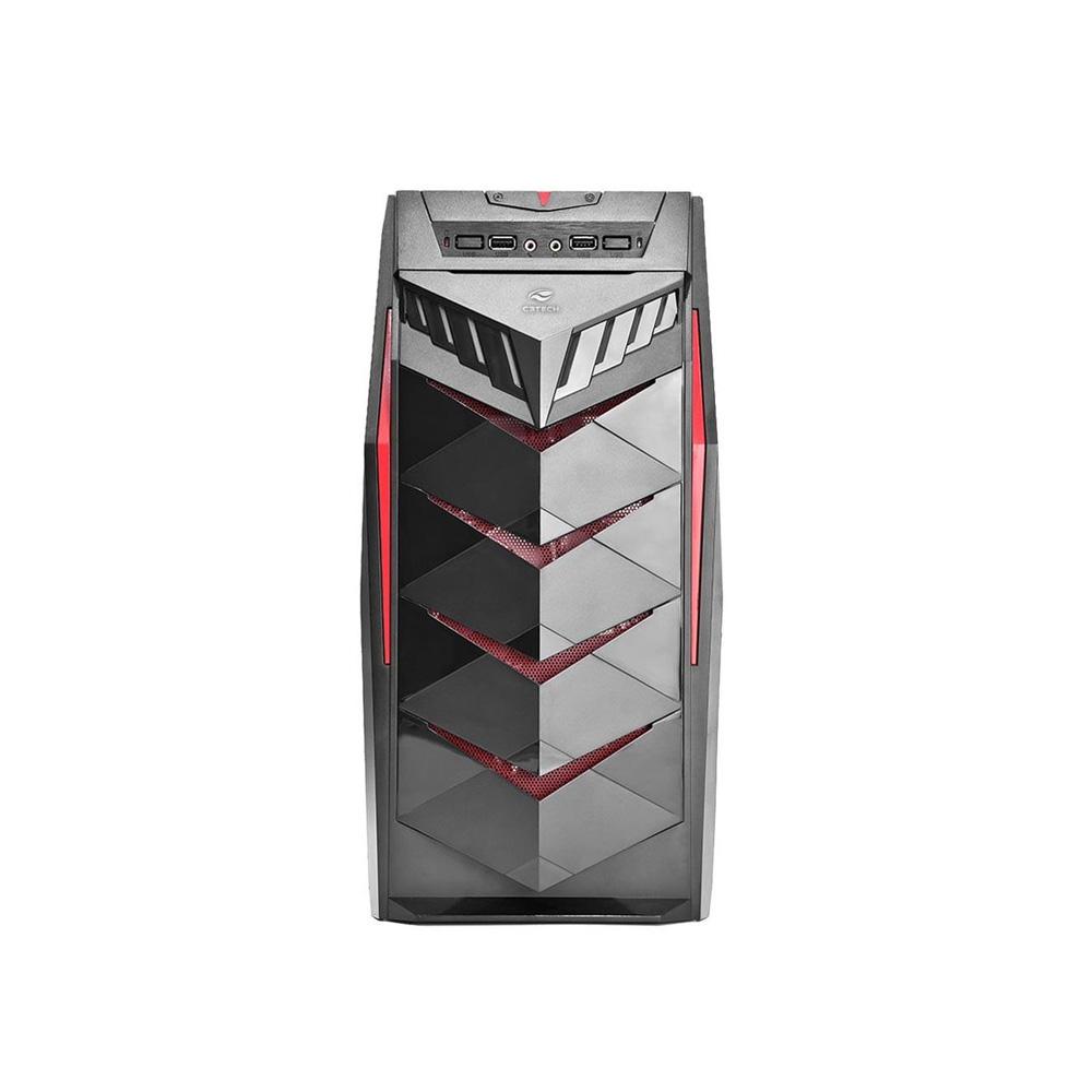 Gabinete Gamer Mt G70bk Atx Preto - C3tech  - Districomp Distribuidora