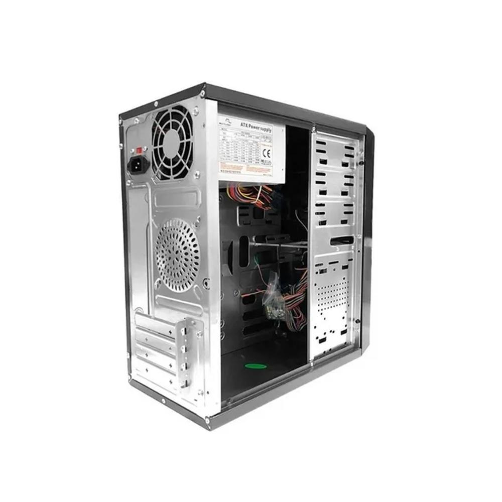 Gabinete Multilaser 2 Baias Preto Com Fonte 200w Reais GA145  - Districomp Distribuidora