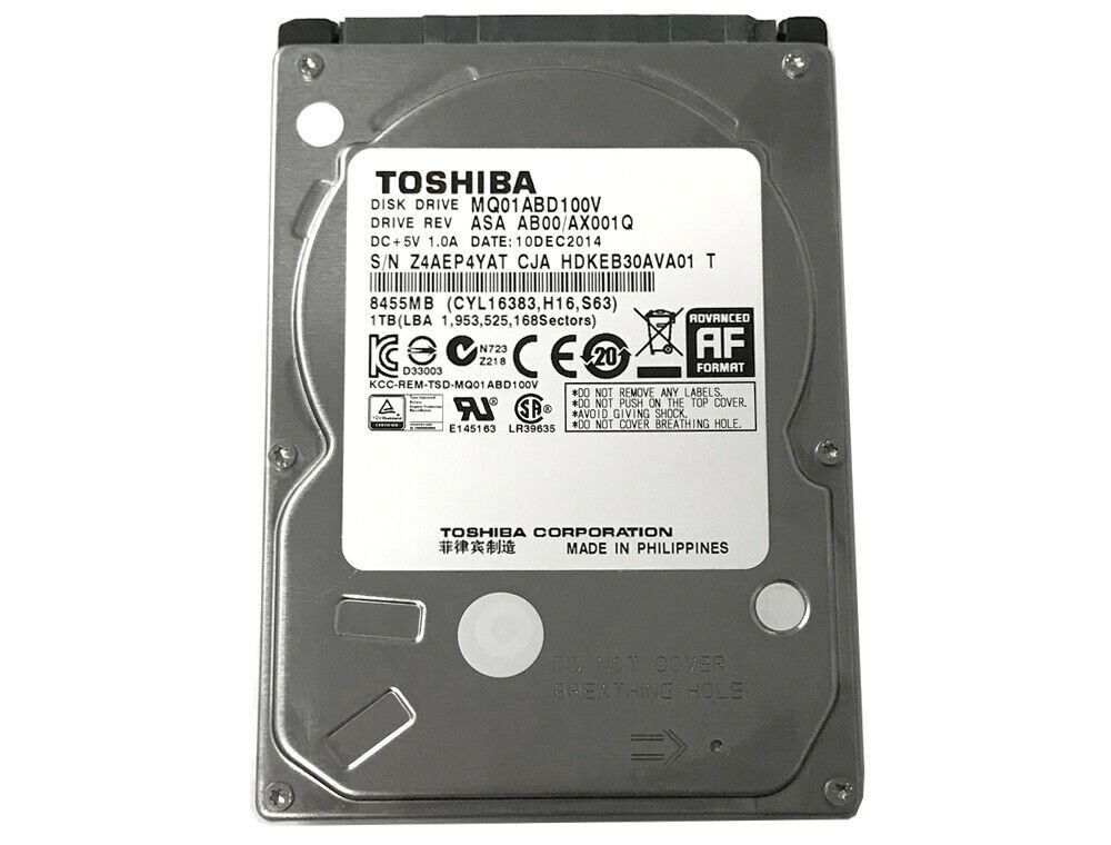 HD para Notebook 1TB TOSHIBA  2.5
