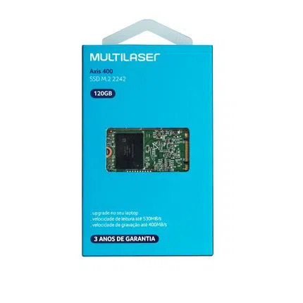 Hd ssd Multilaser Axis 400 120GB M2.2242 - SS104 - com Blister  - Districomp Distribuidora