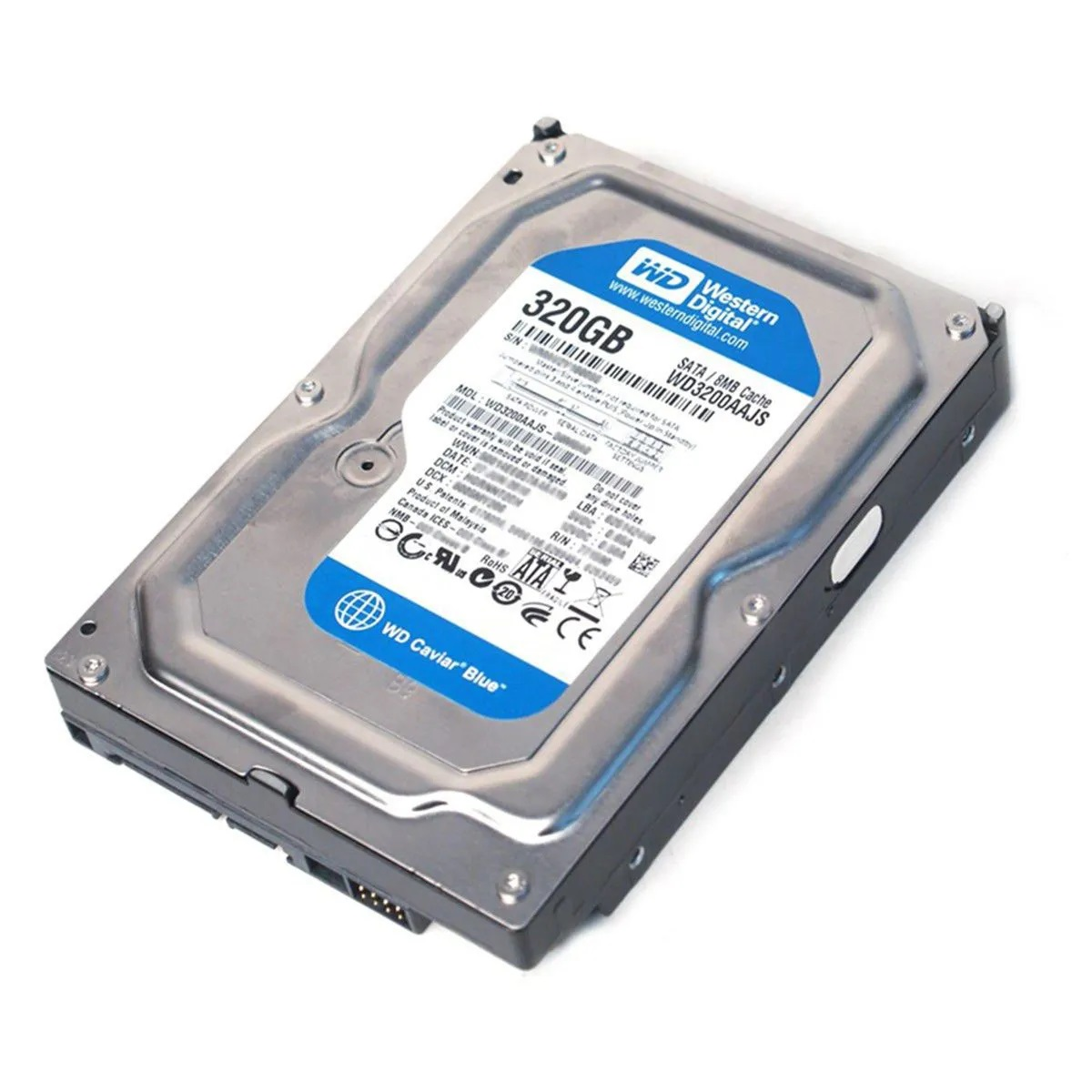 """HD Western Digital 3.5"""" 320GB Sata II 3.0 GB/s 7200 RPM 8 Cache WD3200AAJS  - Districomp Distribuidora"""