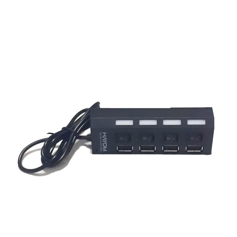 Hub Usb 4 Portas 2.0 Velocidade 480 Mps Com Chave On/Off Nas 4 Portas - CB1118  - Districomp Distribuidora