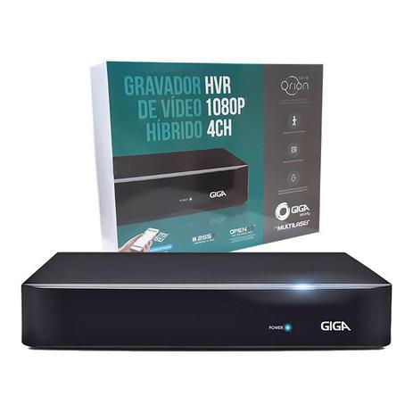 Hvr Hibrido 2.0 Giga Security  Open 1080p  5MN Com 4 Canais BNC H265+P - GS0180  - Districomp Distribuidora