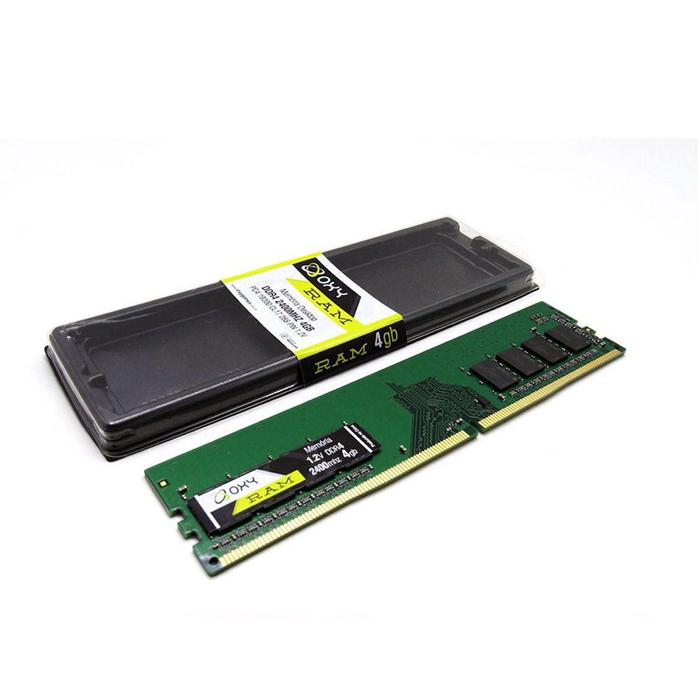 Memoria Para Desktop 4GB Oxy - DDR4 2400MHZ  - Districomp Distribuidora