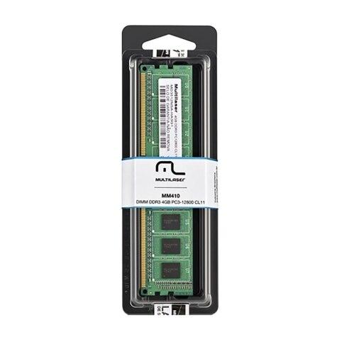 Memoria Para Desktop - Mutilaser 4Gb - 1600Mhz 1.35v Mm410