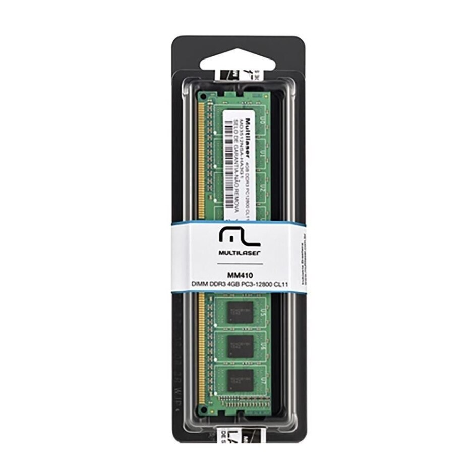 Memoria Para Desktop - Mutilaser 4Gb - 1600Mhz 1.35v Mm410  - Districomp Distribuidora