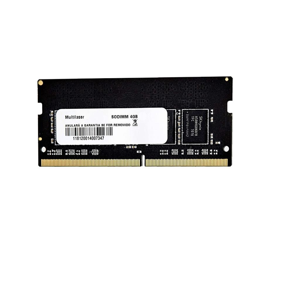 Memoria para Notebook 4GB 2400MHZ 1.2 Multilaser - MM424  - Districomp Distribuidora