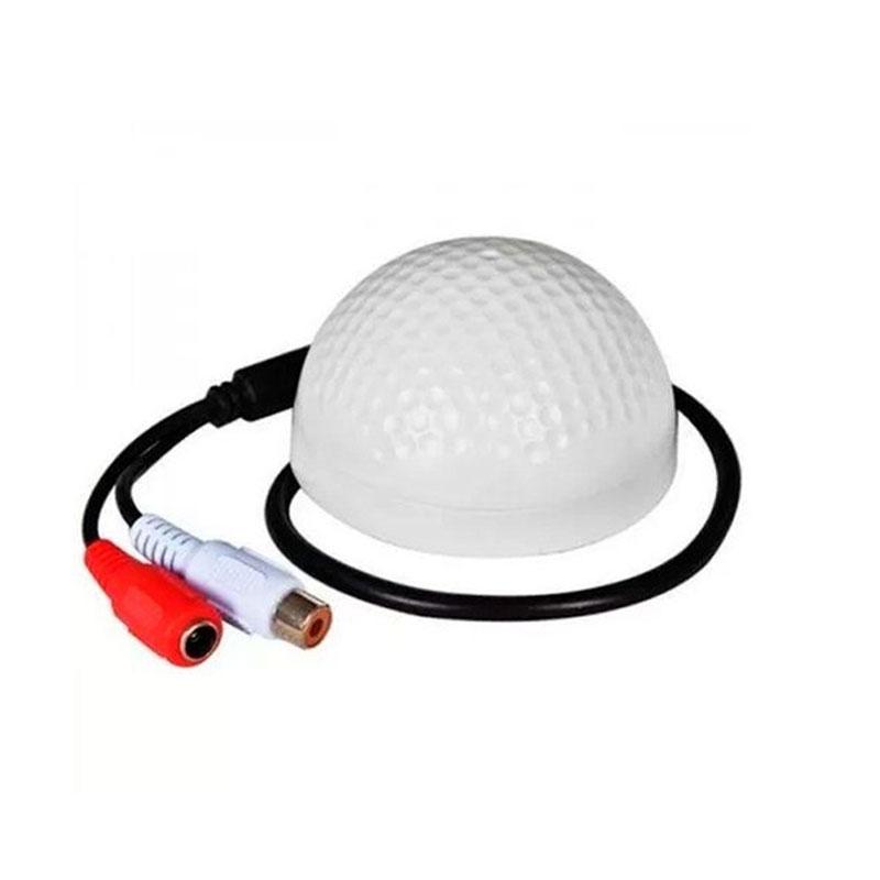 MICROFONE GIGA SECURITY P/ SISTEMA DE CFTV COM ALCANCE 5M - GS0073  - Districomp Distribuidora