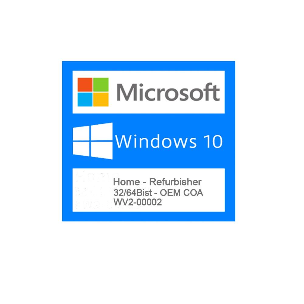 WV2-00002 - Windows 10 Home Refurbisher COA Part-Number  - Districomp Distribuidora