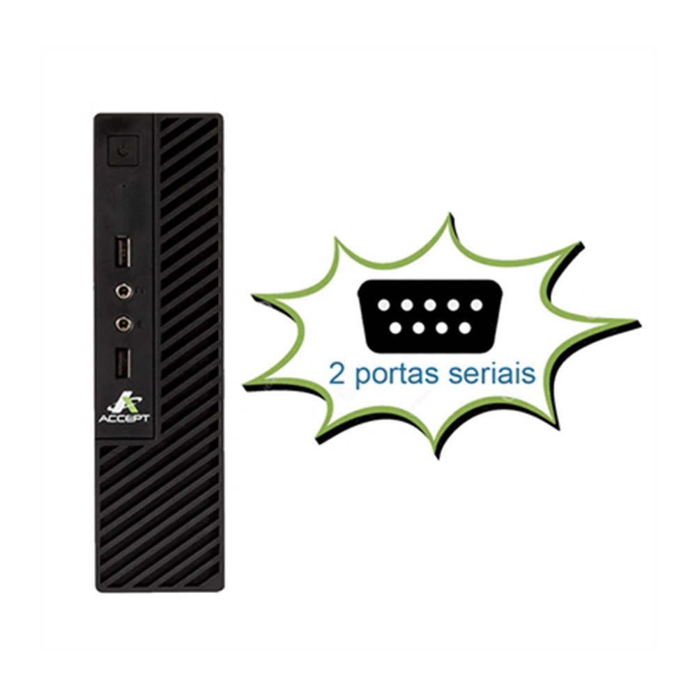 Mini Pc Positivo C4120L Dual Core J1800 2.58Ghz 4GbDdr3 Ssd120Gb Vga Hdmi 2xSerial Rede Giga Linux  - Districomp Distribuidora