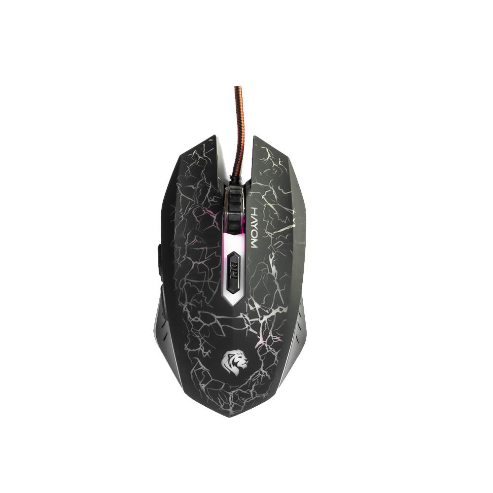 Mouse Gamer Hayom Usb C/Leds 2400 Dpi 6 Botoes Cabo 1.5 Metros MU2912