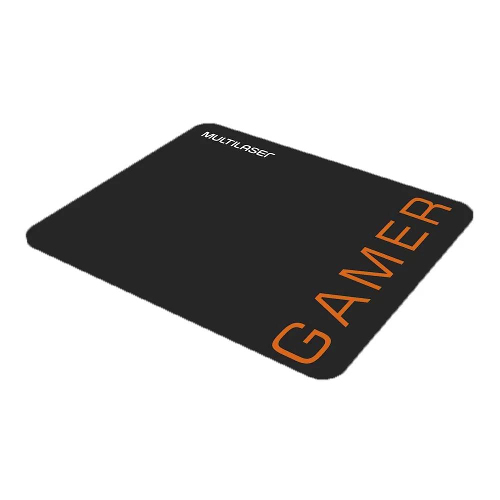 Mouse Gamer Multilaser 3200DPI 6 Botões Preto/Laranja com Mouse Pad - MO274  - Districomp Distribuidora