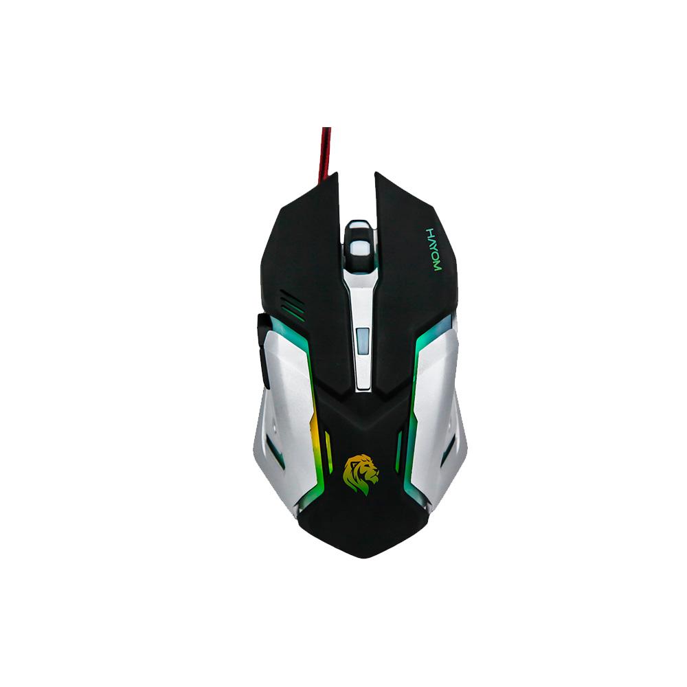 Mouse Gamer Usb - Hayom  - C/Leds Rgb 2400 Dpi 6 Botoes Cabo 1.4 Metros - MU2906  - Districomp Distribuidora