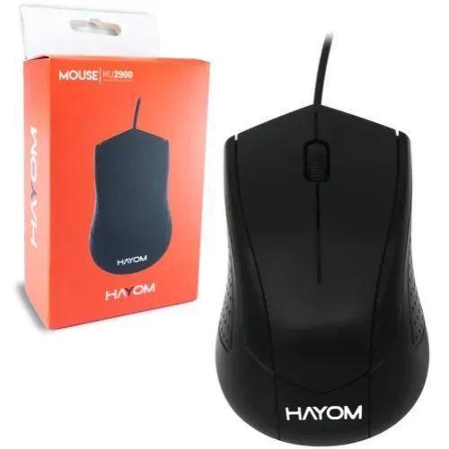 MOUSE OFFICE PRETO USB 1200 DPI 3 BOTOES CABO 1.2 METROS MU2900 - HAYOM