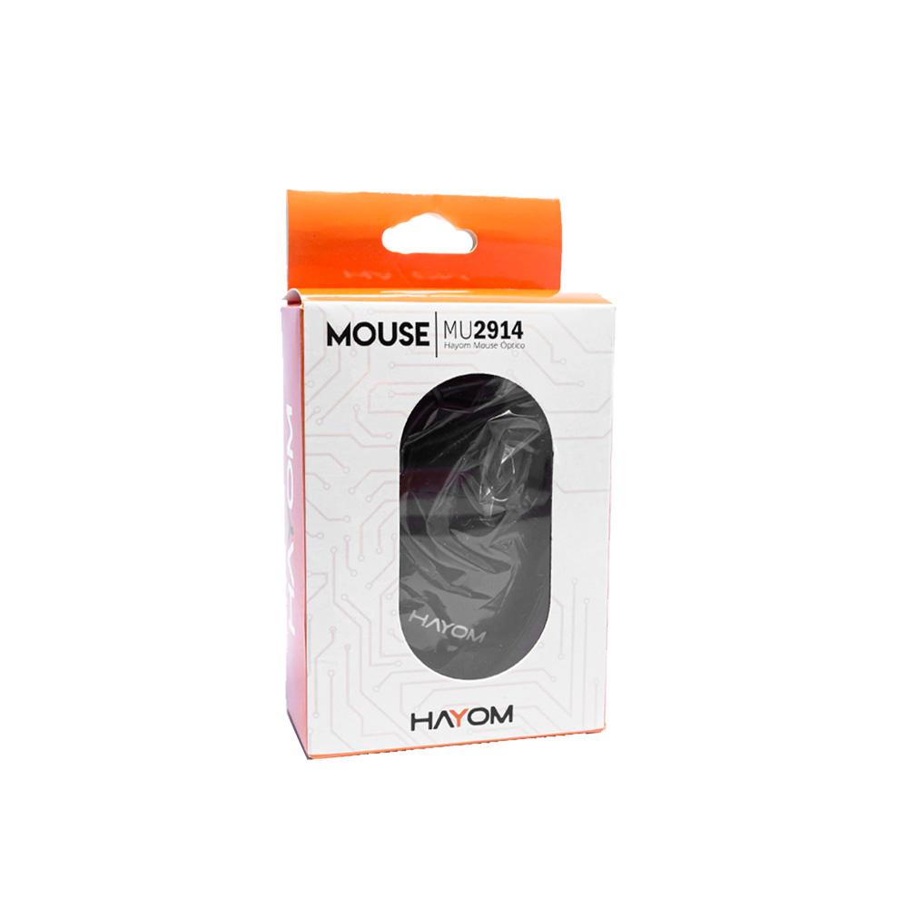 Mouse Office Preto USB 1200 DPI 3 Botoes Cabo 1.2 Metros MU2914  - Districomp Distribuidora
