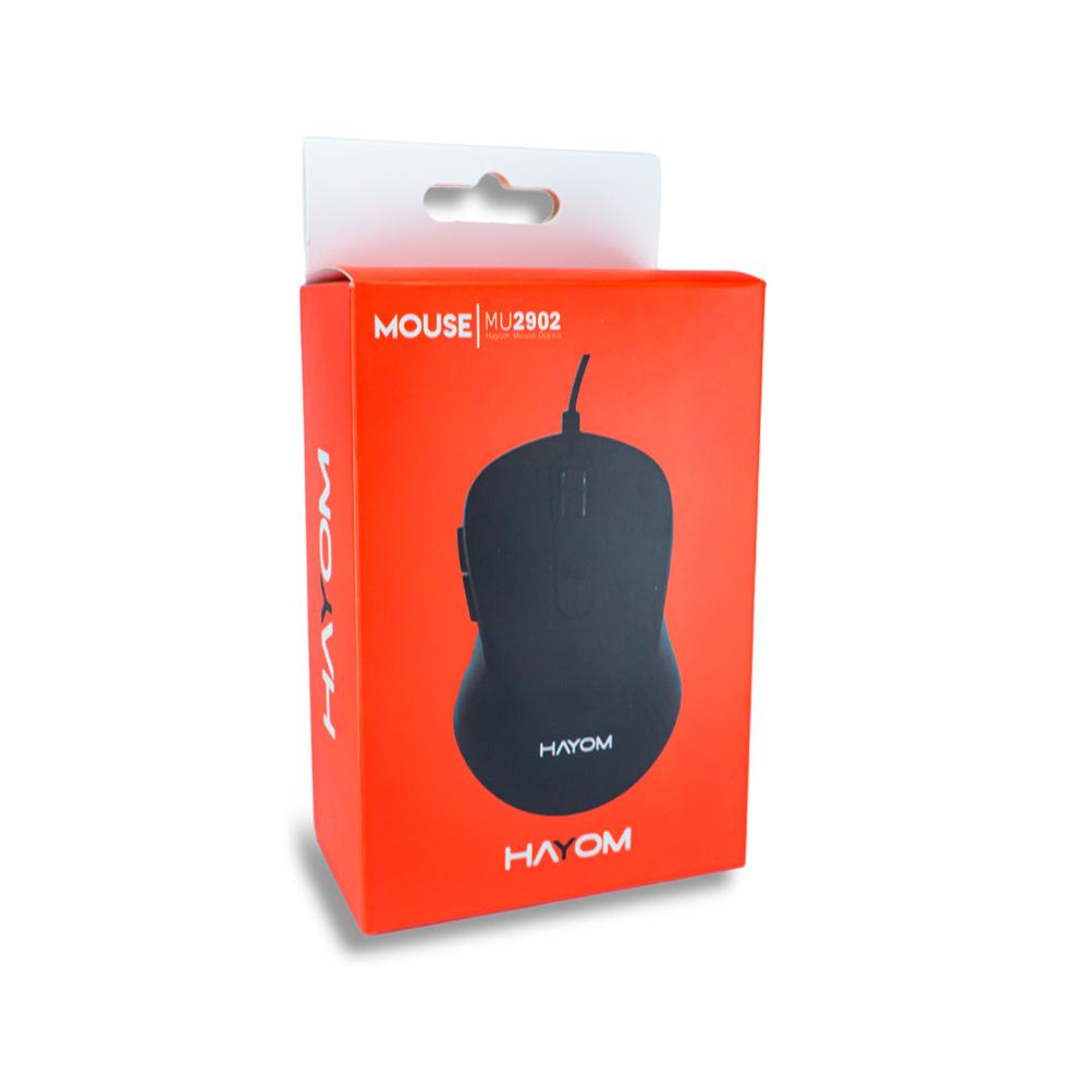 Mouse Office Preto Usb 2400 Dpi 6 Botoes - Hayom -  MU2902  - Districomp Distribuidora