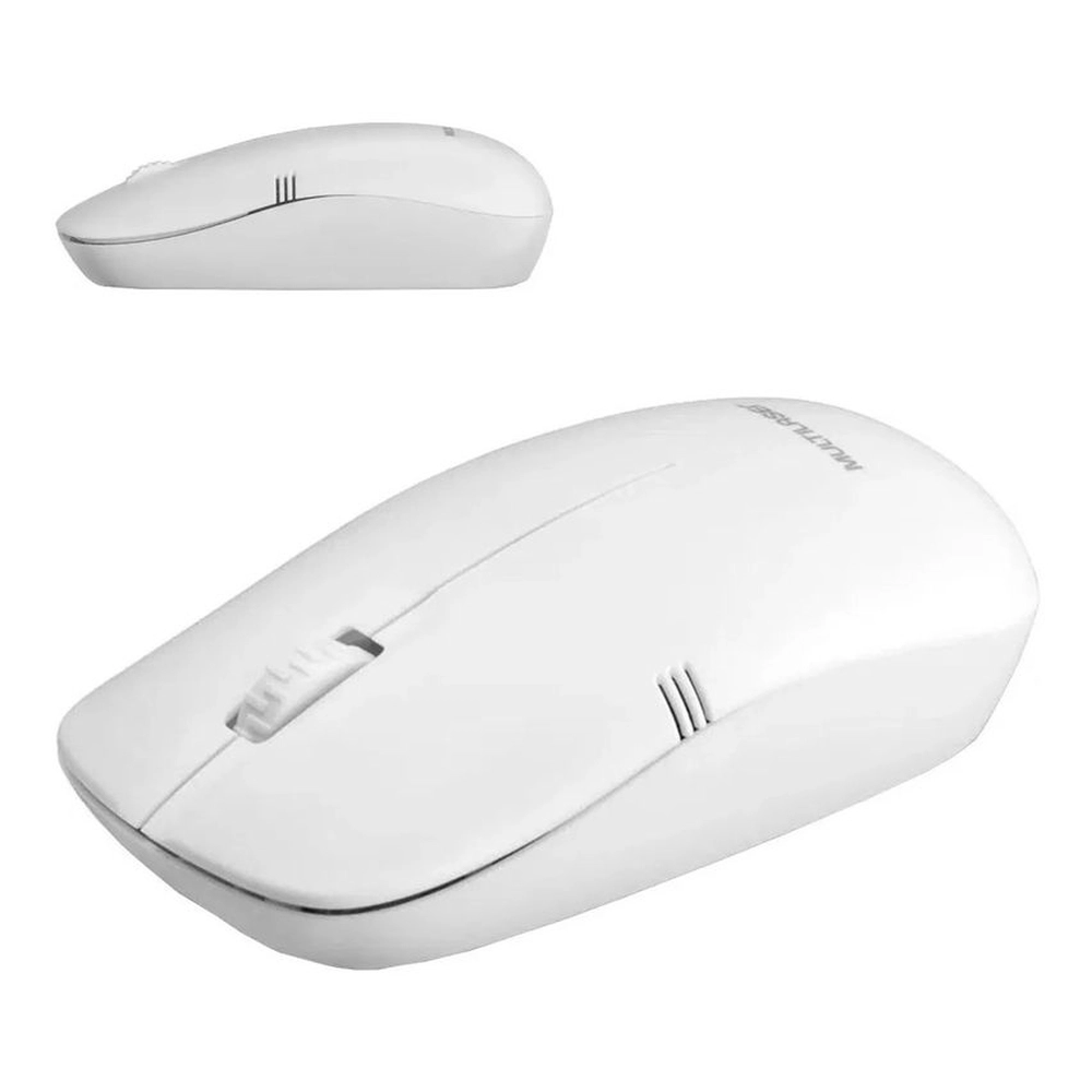 Mouse Sem Fio 2.4ghz 1200dpi Branco Usb - MO286
