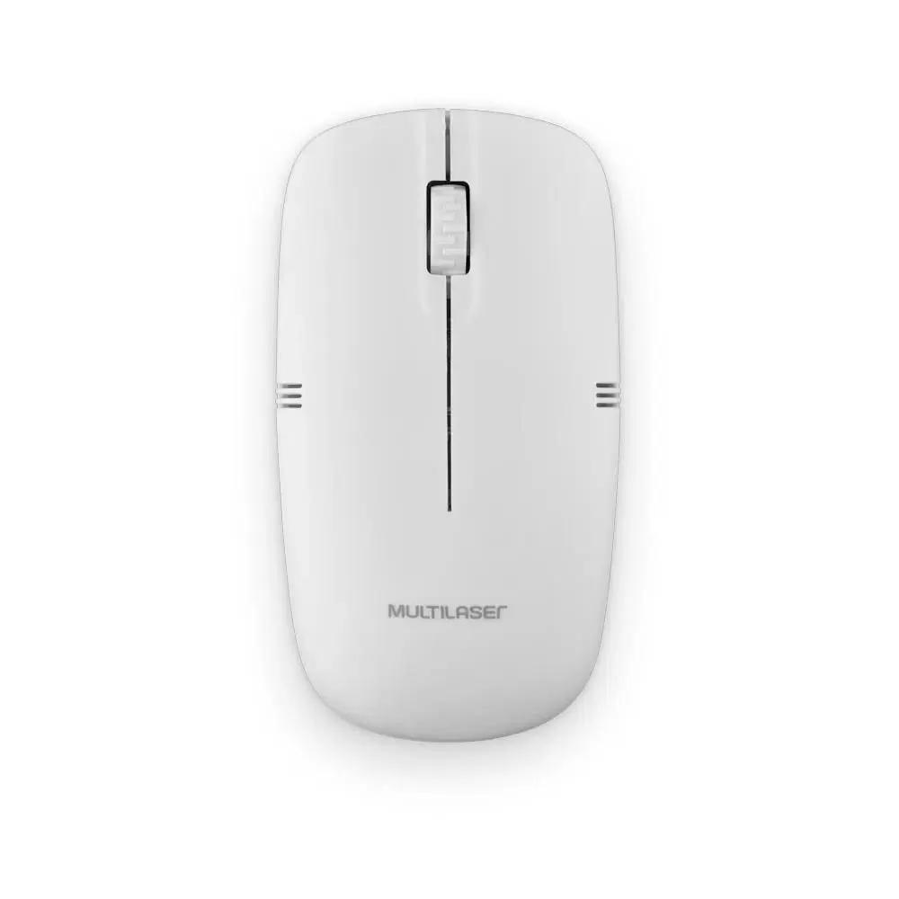 Mouse Sem Fio 2.4ghz 1200dpi Branco Usb - MO286  - Districomp Distribuidora
