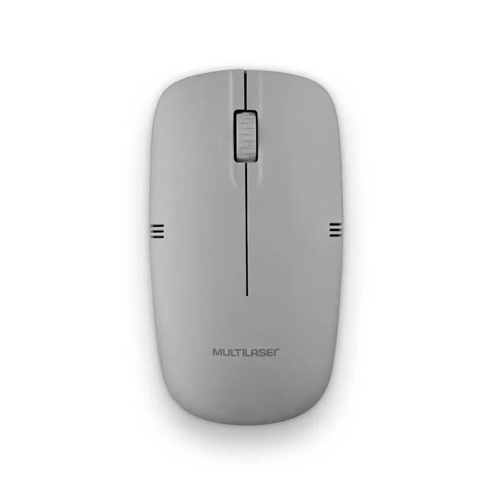 Mouse Sem Fio 2.4ghz 1200dpi Cinza Usb - MO287