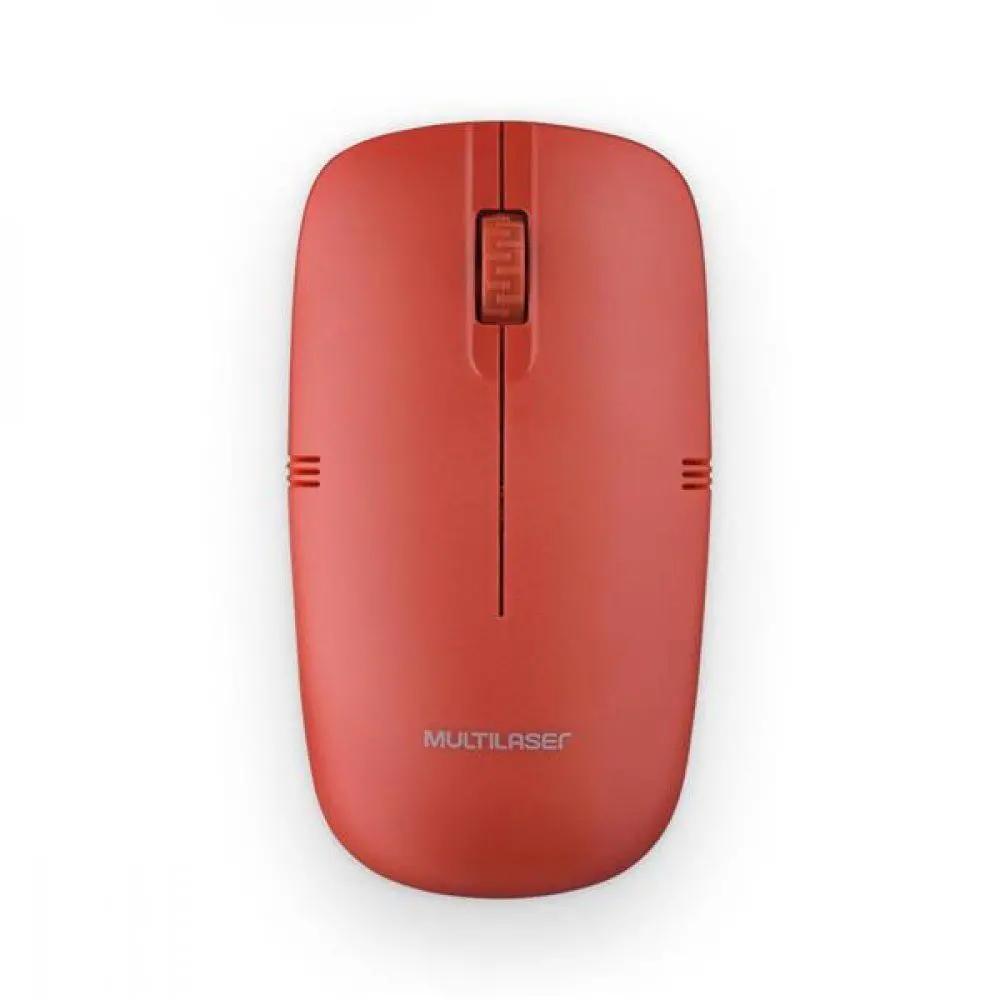 MOUSE SEM FIO USB 2.4 GHZ MULTILASER  VERMELHO - MO289