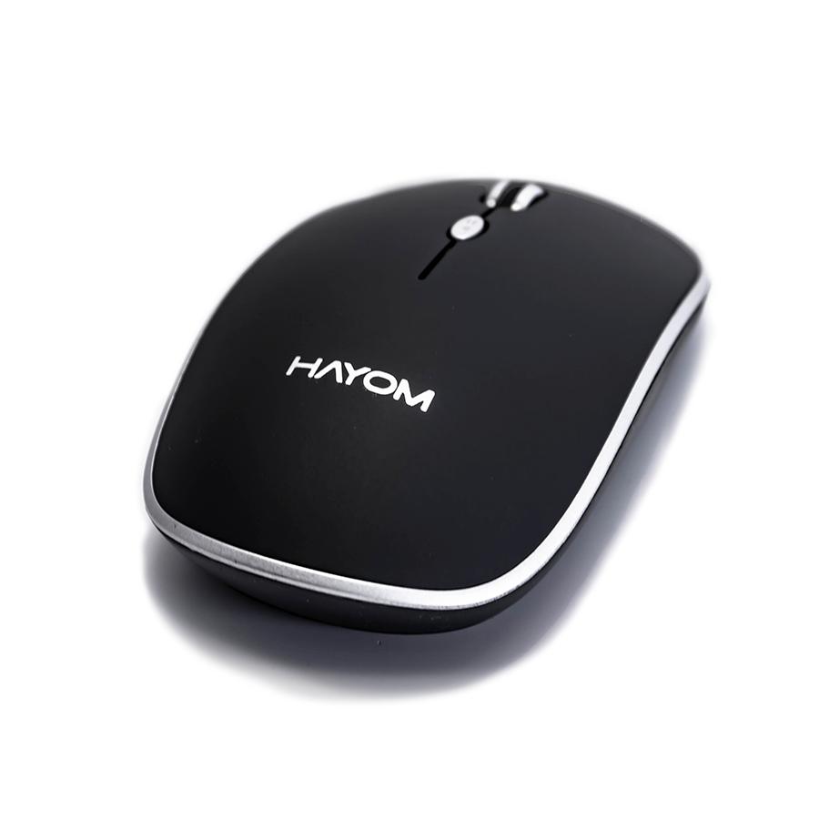 Mouse Sem Fio Wireless Hayom 4 Botoes 1600 Dpi Preto MU2913  - Districomp Distribuidora