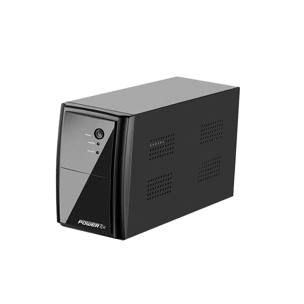 Nobreak Powertek 720Va  Ent-220V / Sai-220V 3 Tomadas 1 Bat Sel 12v 7ah Multilaser - EN036  - Districomp Distribuidora