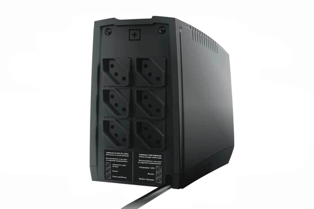 Nobreak Ts-Shara 800Va Ups Compact Xpro Biv Ent 115V/220V/Sai-115V 6 Tomadas 1 Bat Sel 12V7AH (4442)  - Districomp Distribuidora
