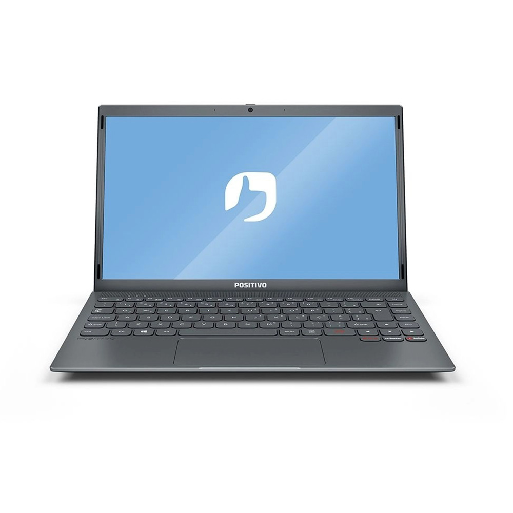 Notebook 14 Ultraslim Positivo Mgray Dual Core N3350 4GBDDR4 SSD128GB hdmi usb 3.0 linux