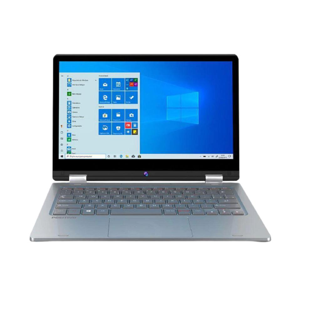 Notebook Touch 11.6 2in1 fhd Positivo Dual Core N4020 4GBDDR4 EMMC64GB Mnihdmi win10pro  - Districomp Distribuidora