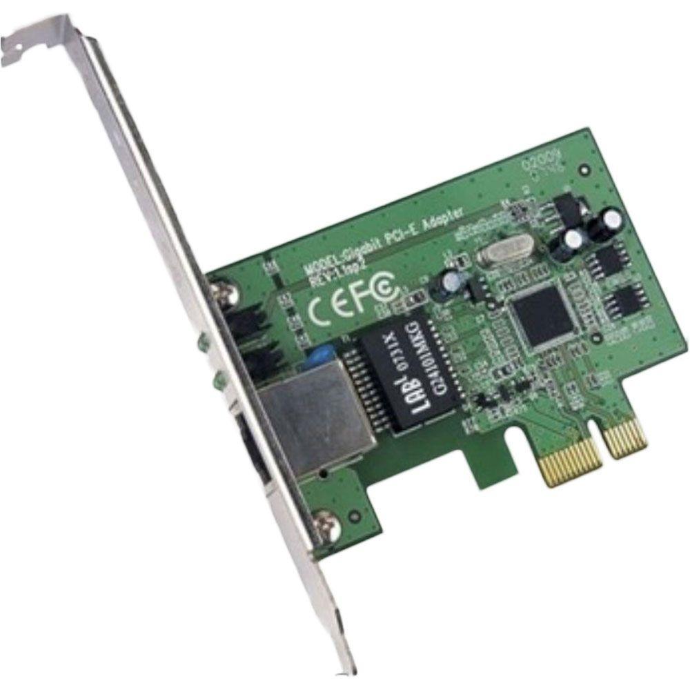 PLACA DE REDE PCI-EXPRESS CONEXAO 10/100/1000Mps MULTILASER - GA150  - Districomp Distribuidora