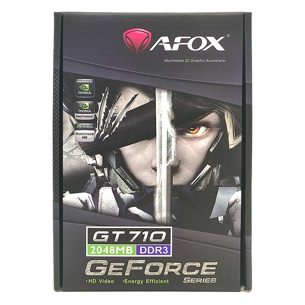 Placa de Video Afox Geforce Gt 710 2Gb Ddr3 64 Bits - Hdmi - Dvi - Vga - AF710-2048D3L7 - 0077120-01  - Districomp Distribuidora