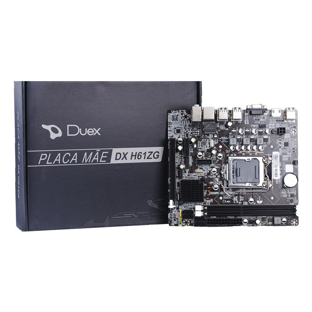 Placa Mae Duex 1155 DX-H61ZG  - Districomp Distribuidora