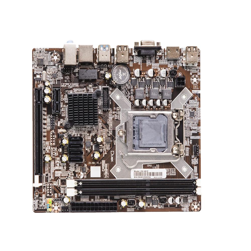 Placa Mae Duex Lga 1150 DX-H81Z (2xDdr3/2xUsb3.0/4xUsb2.0/1xAudio) Rede10/100 Pcie16x Vga Hdmi 4ªGer