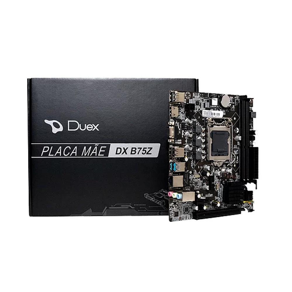 Placa Mae Duex Lga 1155 DXB75Z  - Districomp Distribuidora