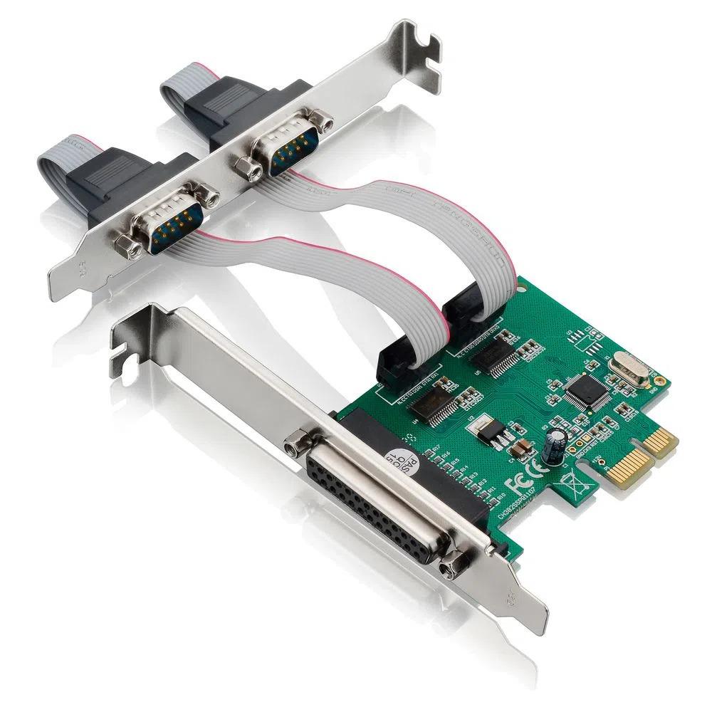 Placa PCI Multilaser Express com 2 Portas Seriais + 1 Porta Paralela de 2 Mbp - GA128  - Districomp Distribuidora