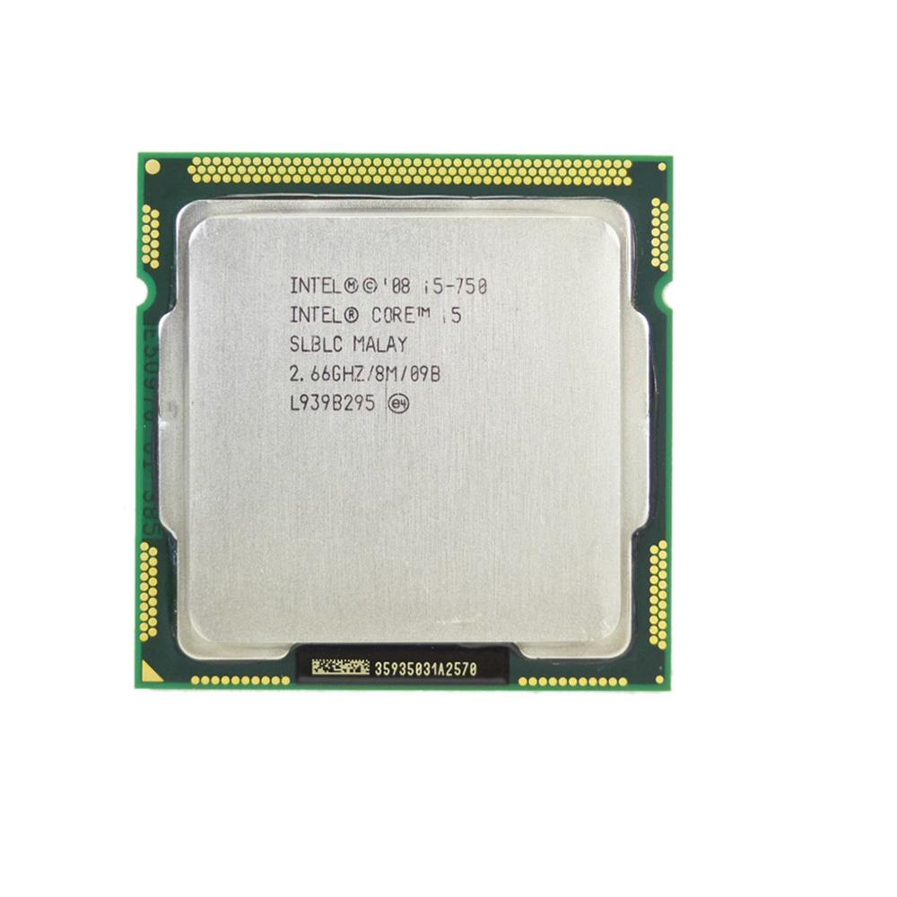 PROCESSADOR INTEL CORE I5 750 2.66Ghz(Turbo3.20Ghz) 8MB LGA 1156 1ª GER S/COOLER PRECISA PLVIDEO OEM