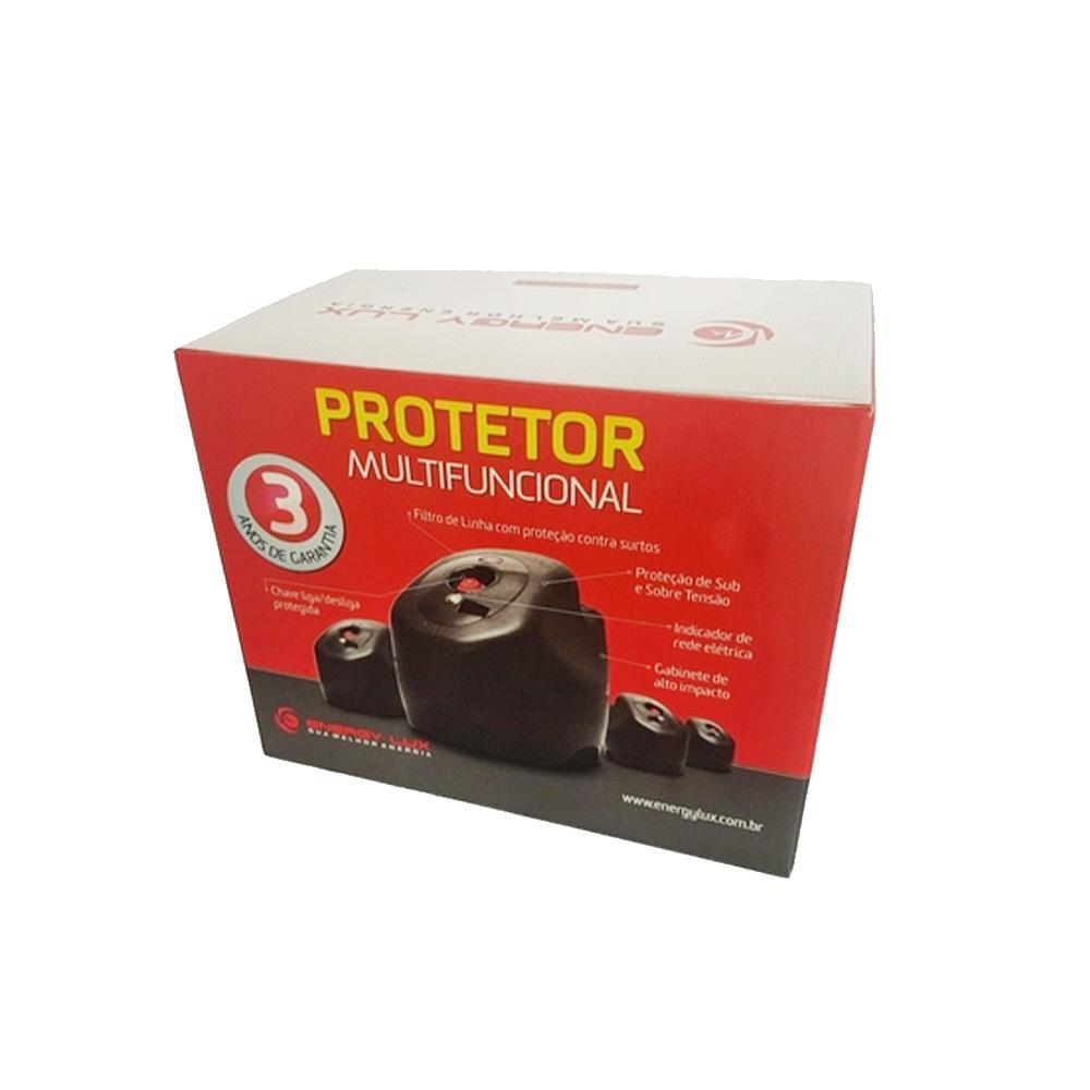 Protetor Eletrônico Multifuncional  1500VA Energylux  - Districomp Distribuidora