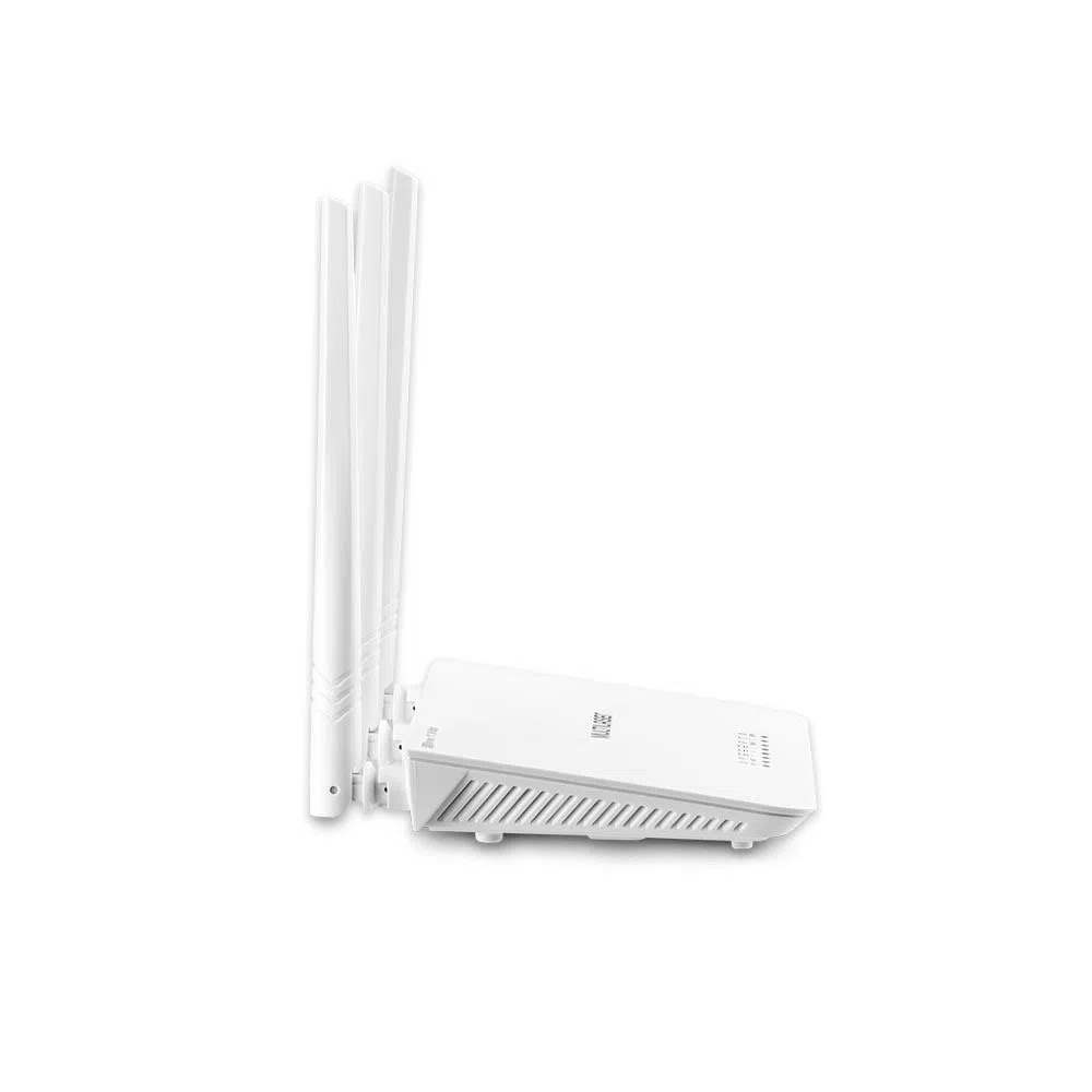 ROTEADOR WIRELESS DUAL BAND 2.4 Ghz 300 Mbps LAN 10/100Mbps IPV6 C/4ANTENAS MULTILASER BRANCO-RE163V  - Districomp Distribuidora