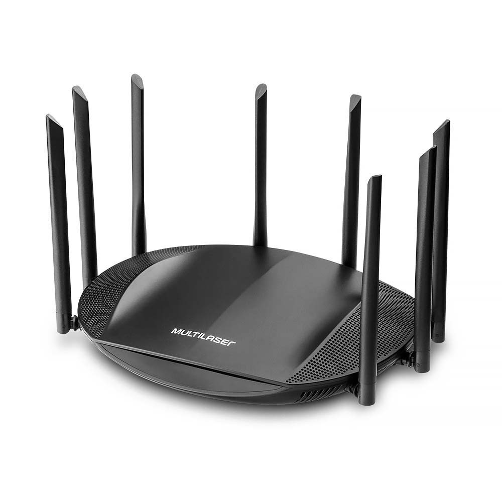 ROTEADOR WIRELESS SIRIUS DUAL BAND GIGABIT AC2600 2.4Ghz/5Ghz IPV6 C/8 ANTENAS - RE016