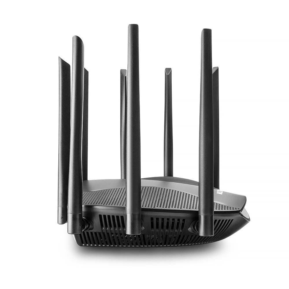 ROTEADOR WIRELESS SIRIUS DUAL BAND GIGABIT AC2600 2.4Ghz/5Ghz IPV6 C/8 ANTENAS - RE016  - Districomp Distribuidora