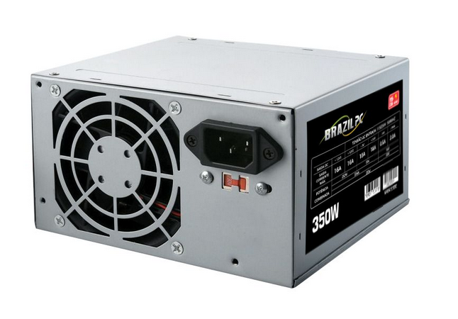 SFonte Atx 350w Real BrazilPC  BPC-325V1.2 (1x24P/2xIDE/3xSATA/1x4P Aux) S/Cabo OEM  - Districomp Distribuidora