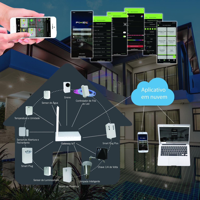 Sirene Iot C007SIOT Pixel TI Rev - CMA0030Z  - Districomp Distribuidora