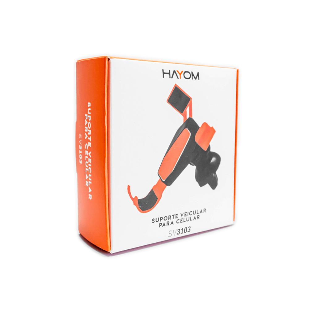 Suporte Veicular Universal Para Celular - Hayom -  SV 3103  - Districomp Distribuidora