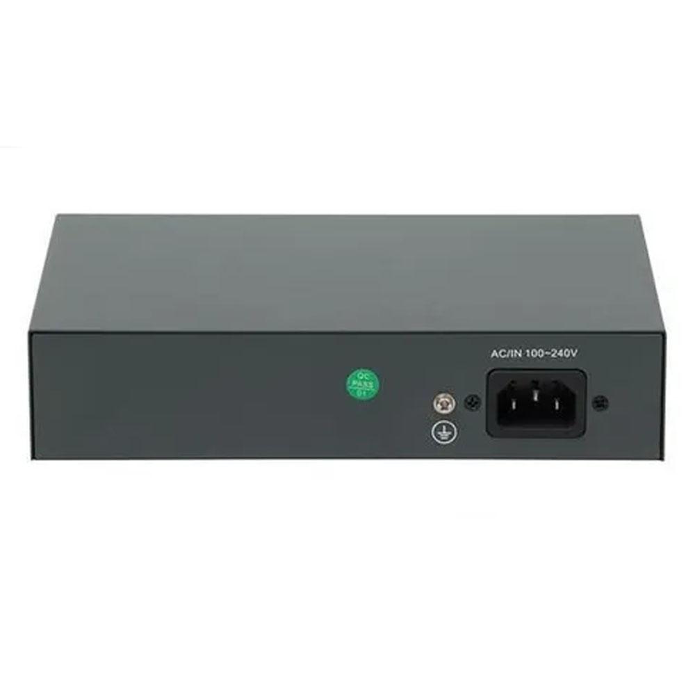 SWITCH CFTV ATIVO 120W 52VDC 250M 08 POE / 02 UPLINK - GS0246  - Districomp Distribuidora