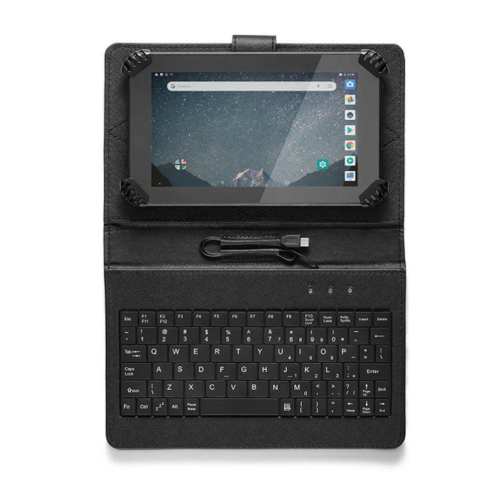 "TABLET MULTILASER 7"" 16GB 1GB QUAD CORE WI-FI BLUETOOTH M7S GO C/ TECLADO E CASE - NB310 (U)  - Districomp Distribuidora"