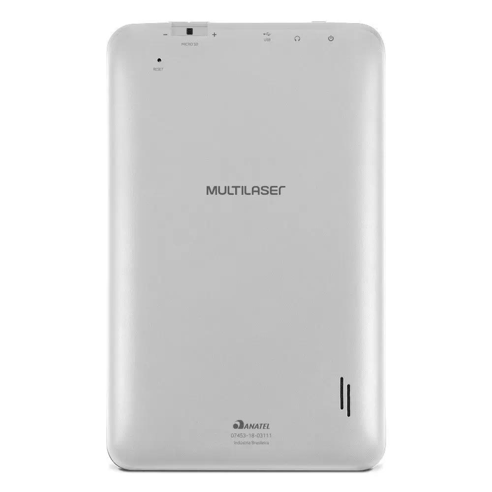 "TABLET MULTILASER 7"" 32GB 1GB QUAD CORE WI-FI BLUETOOTH M7S GO BRANCO  - NB356  - Districomp Distribuidora"